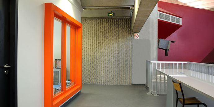 École D'Architecture Montpellier - Aménagement de grands ensembles coupe-feu vitrés, mise en conformité et en accessibilité.