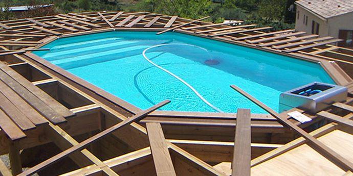 Aménagement Extérieur Aménagement extérieur d'une piscine chez un particulier, habillage et terrasse en IPE.